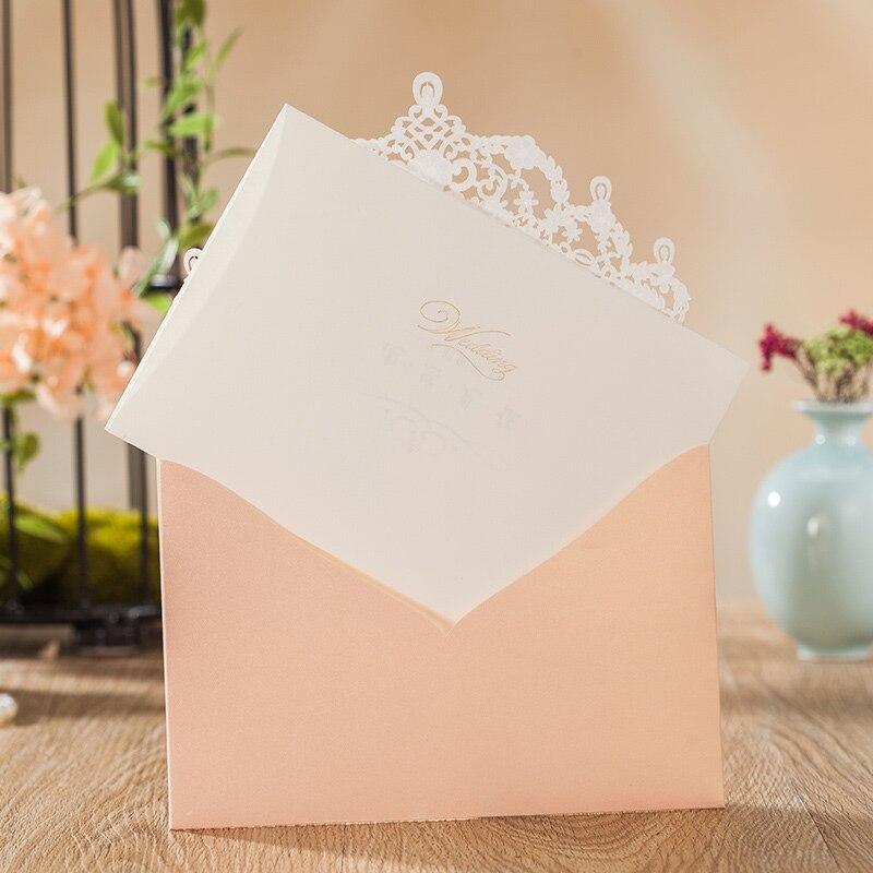 Wishamde Laser Cut GlitterWedding Einladungen Karten Mit Spitze Flora Design Engagement für Braut Dusche Partei Liefert 100 stücke-in Karten & Einladungen aus Heim und Garten bei  Gruppe 2