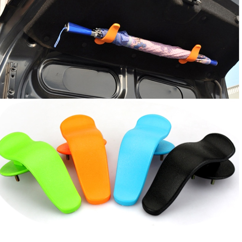 1 paire Rack Clip Crochet sur Couvercle De Coffre Intérieur Mode Multifonctionnel Fixation pour Parapluie ABS 12.8x6.4 cm Voiture style