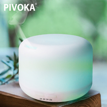 PIVOKA Ultrasonic Aromatherapy Humidifier Essential Oil Diffuser Air for Home Mist Maker Aroma Diffuser Fogger LED Light 300ML 300ml led ultrasonic air aroma essential oil diffuser humidifier aromatherapy atomizers mist humidification for home gifts