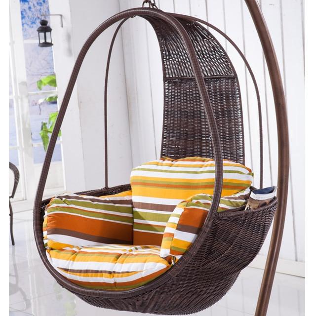White Wicker Chair Swing Hanging Baskets Indoor Outdoor Rocking Balcony  Leisure Furniture Hotel Rattan