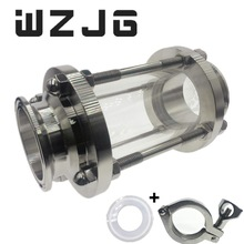 """WZJG """" Tri Clamp тип потока прицел стекло диоптрий для домашнего пивоварения дневник продукт нержавеющая сталь SS304 наконечник OD 64 мм"""