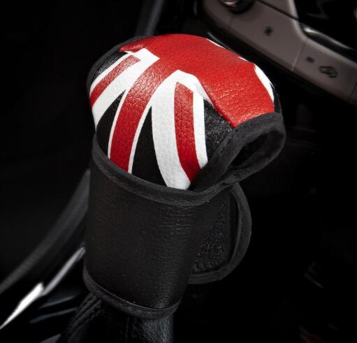 BLACK STITCH LEATHER HANDBRAKE GAITER FITS BMW MINI COOPER R56 R57 CLUBMAN R55
