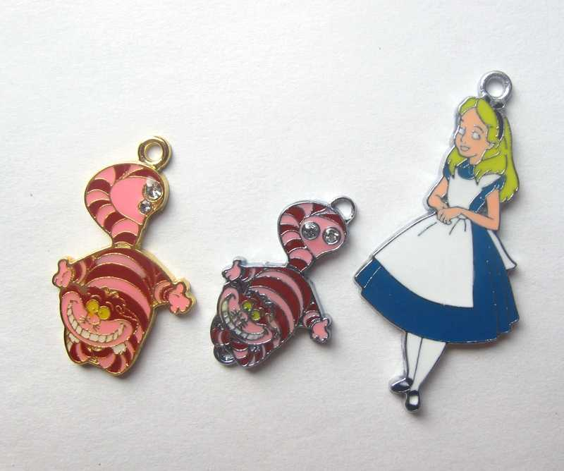 New 100Pcs Princess Alice Metal Charms Jewelry Making Pendants Earrings