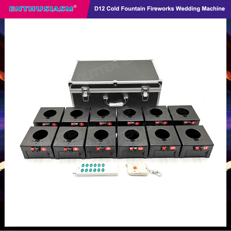 D12 wireless remote control 12 channel receiver box birthday wedding pyrotechnic machine-in Stage Lighting Effect from Lights & Lighting