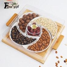 Дом пять сетки керамической древесины лоток фрукты организатор ящик для хранения пыли может положить гостиная хранения закуски развлекать друг
