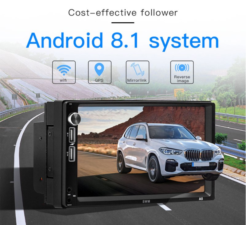 Zeepin A5 7 inch 2 Din Car MP5 Player Android 8.1 Support Driving Record Bluetooth WIFI Mirrorlink 2 AUX 2 USB Real time MonitorZeepin A5 7 inch 2 Din Car MP5 Player Android 8.1 Support Driving Record Bluetooth WIFI Mirrorlink 2 AUX 2 USB Real time Monitor