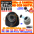 "Free Shipping Sale 800/900TVL 1/3""Sony Ccd Effio Security Surveillance HD MINI CAMERA Indoor Infrared DOME OSD Meun Color VIDEO"
