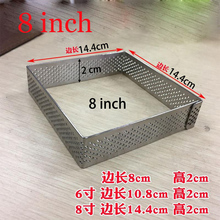 GREAT 1pcs/set Stainless Steel Cake Mousse Ring 3D Rectangle & Square Mold Fondant Decorating Tools Baking