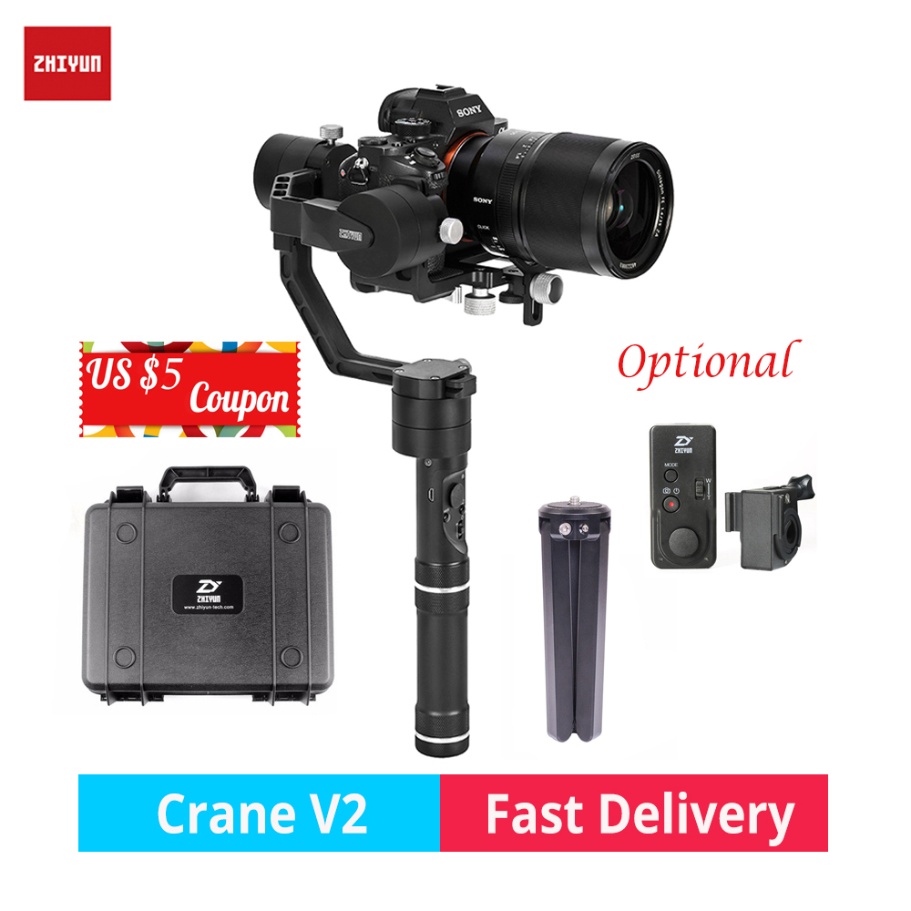 zhi yun Zhiyun Crane V2 3-Axis Brushless Handheld Gimbal Stabilizer camera gimbal for Canon Nikon Sony DSLR mirrorless cameras latest 2017 version zhiyun crane 3 axis handheld stabilizer gimbal for dslr canon sony a7 cameras load 1800g