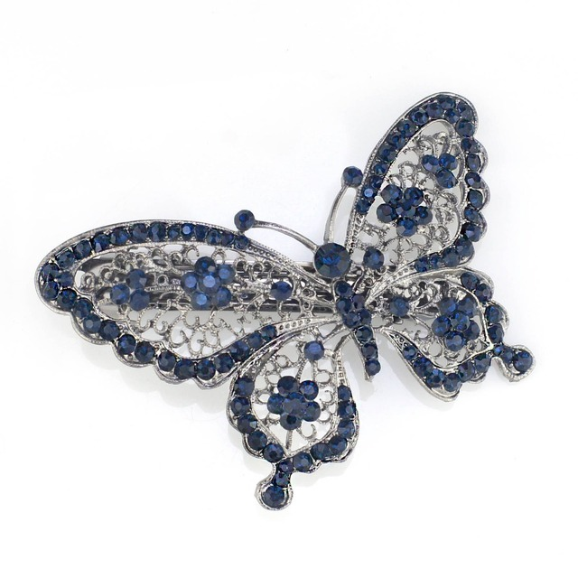 Butterfly Hairpin with Crystals