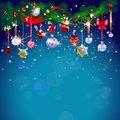 Рождество колокольчик синий украшение Блестящий боке листья фон Высокое качество компьютерная печать Вечеринка фоны