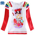 Girls tees long sleeve new winter baby clothes branded nova kids wear fashion t shirts designs high quality baby tshirt fall kid