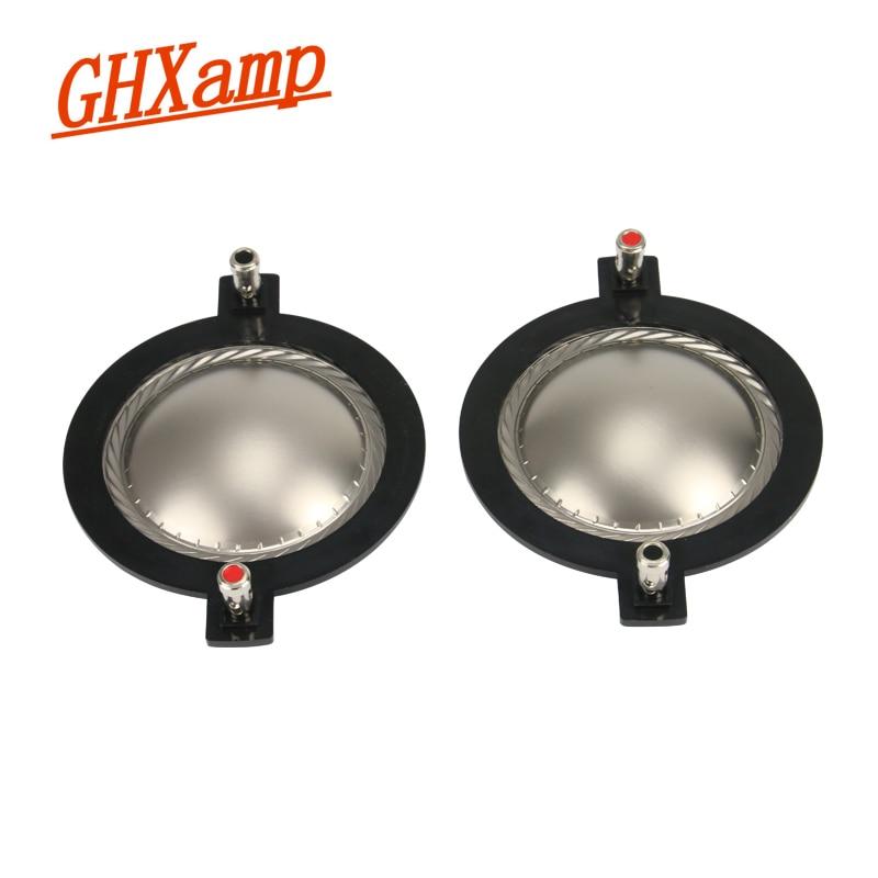 Ghxamp 74.5ミリメートル高音ボイスコイルスピーカーチタンフィルムツイーターリング音声振動板スピーカーアクセサリーdiy 1 pairs -