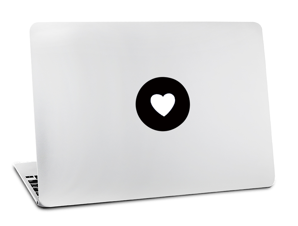 Us 192 40 Offbacklit Love Heart For Apple Logo Vinyl Sticker For Macbook Skin Air 11 13 Pro 13 15 17 Retina Laptop Computer Decal In Laptop Skins