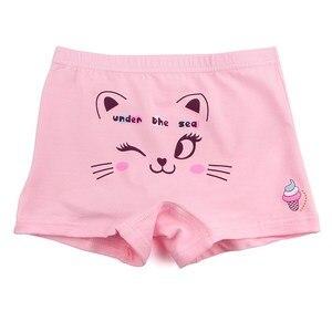 Image 5 - 10 Stks/partij Kinderen Schattige Cartoon Kat Boxer Korte Meisjes Comfortabele Ondergoed Underpant 1 10year
