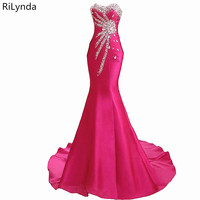 Rose red Long Prom Dresses 2018 New Sexy Party Prom Gowns Sweetheart Tulle Appliques Custom Made Formal Dress Custom Made