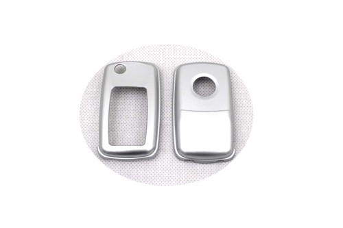 Жесткий Пластик без ключа дистанционного защиты Чехол(глянец серебро) для Фольксваген MK4/MK5