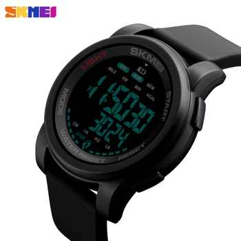 SKMEI Sport Watch Men Digital Watch Calorie 5Bar Waterproof Week Display Silicone Strap Digital Watches relogio masculino 1469 - DISCOUNT ITEM  40% OFF All Category