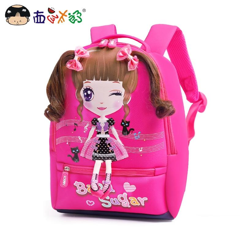 MELONBOY Children's Backpacks Kids School bags Anime school backpack for Girls Age 4-6 in Kindergarten Sweet Cartoon 3 Colors