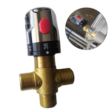 Thermostatic Cartridge Brass Thermostatic Mixer Valve Chrome Temperature Control Shower Mixer Valve Constant Temperature Valve brass thermostatic mixing valve bathroom faucet temperature mixer control thermostatic valve home improvement dn20