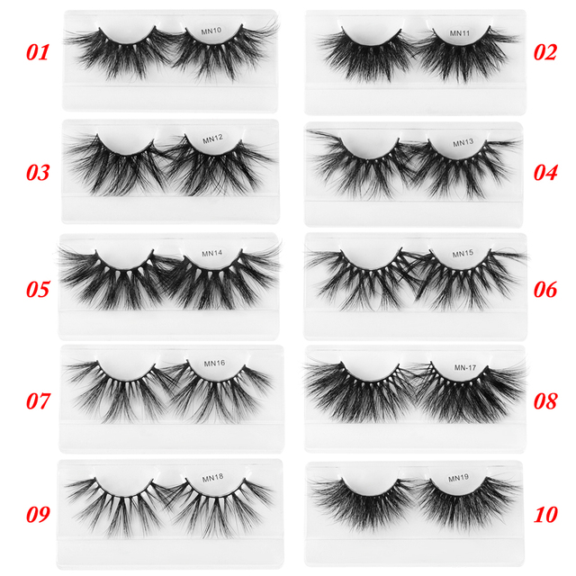 1 Pair Extra Long 30MM Mink Lashes 3D False Eyelashes Wispy Multilayer Eyelashes Cruelty-free Handmade Natural Eyelash Makeup 2