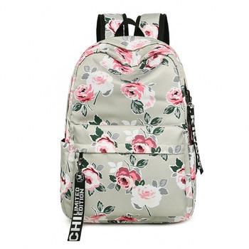 Fashion Waterproof Women Bagpack Flower Printing School Backpack for Teenage Girls College Laptop Travel Bag Knapsack Bookbag
