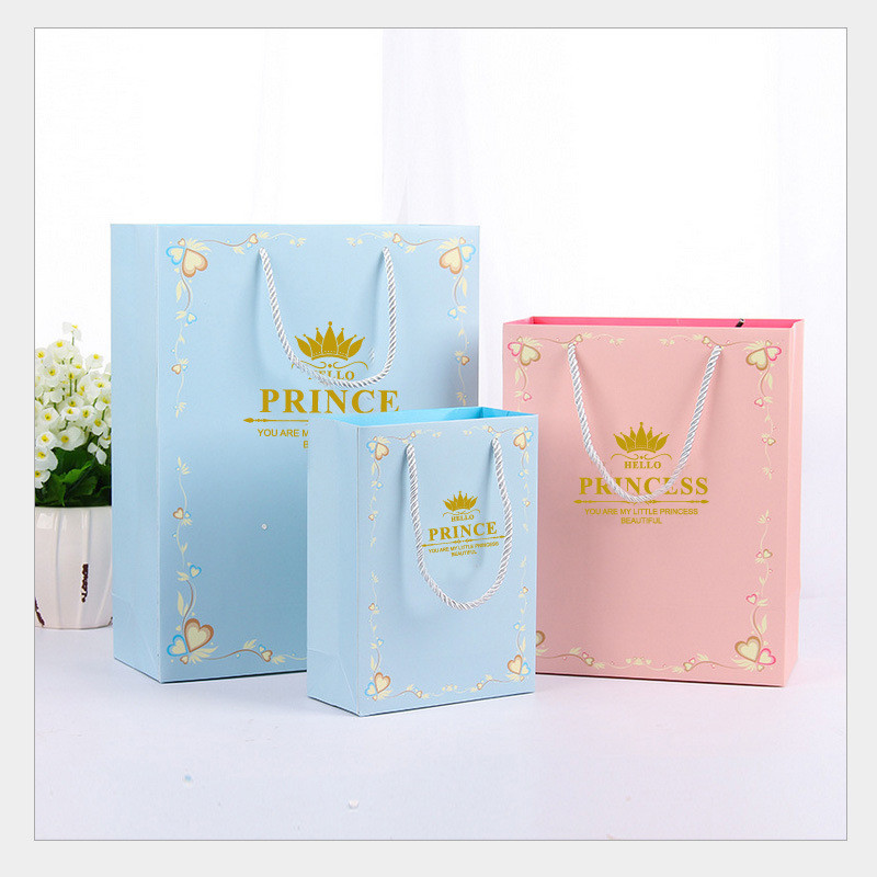 DoreenBeads Fashion Exquisite Princess Prince English Letter Paper Candy Gift Bags For Birthday  Party Gift Supplies 1PC