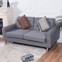 Giantex 2 местный диван Офис современные Loveseat ткань мягкая Хохлатая роскошные диваны Гостиная мебель HW56261