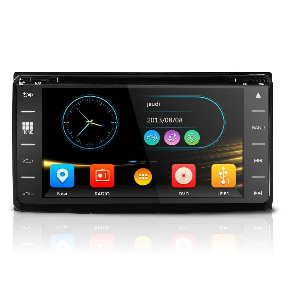 Hizpo 2DIN voiture radio navigation gps lecteur Pour TOYOTA rush 2006-2012 alphard 2008-2015 3g Tactile écran obd volant contro