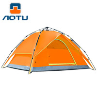 3 / 4 Person Automatic Opening Tent Beach Two layer Double Outdoor Hiking Picnic Tent Camping Waterproof Tent