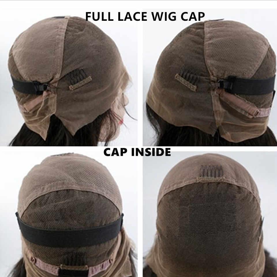 Pelucas frontales de encaje baratas para mujeres negro Pre desplumado a sedoso recto 150% densidad brasileño cierre completo de encaje cabello humano pelucas