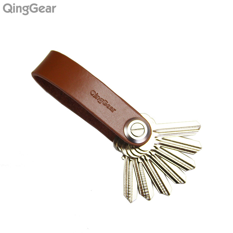 QingGear Lkey Leather Car Holder Key Handicrafted Key Organizer Travel And Practical Key Clip Tool Carry Your Keys better