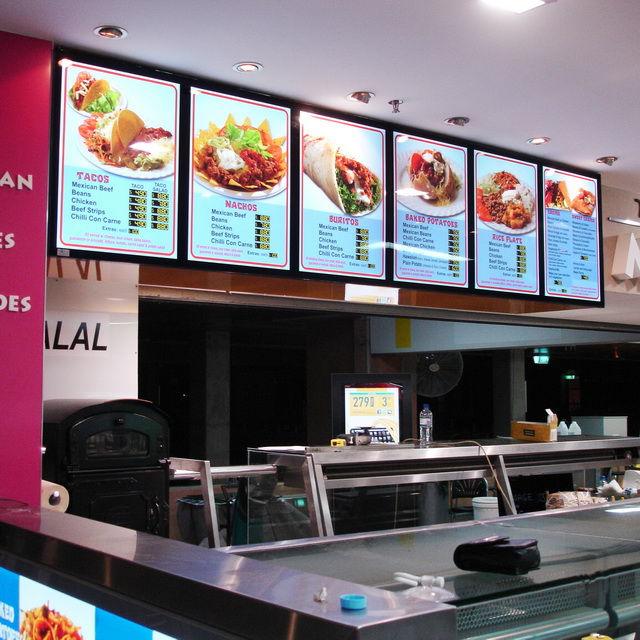 6pcs restaurant led slim menu boards a2 magnetic light boxes in
