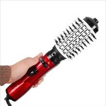 2019 Новый Электрический Фен щетка 2 в 1 выпрямитель для волос роликовый плойка вращающаяся железная щетка один шаг щетка для завивки волос