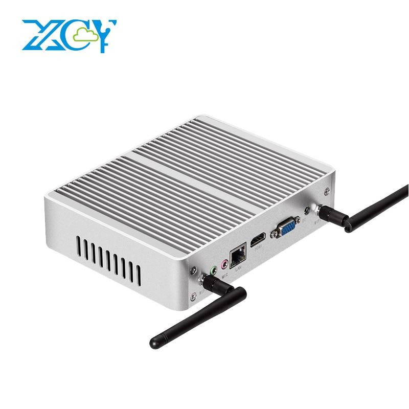 XCY Mini PC Core i3 6100U 5005U 4010U Dual Cores Fanless Mini Computer Thin Client VGA HDMI WIFI Windows 10 Linux HTPC Nettop PC