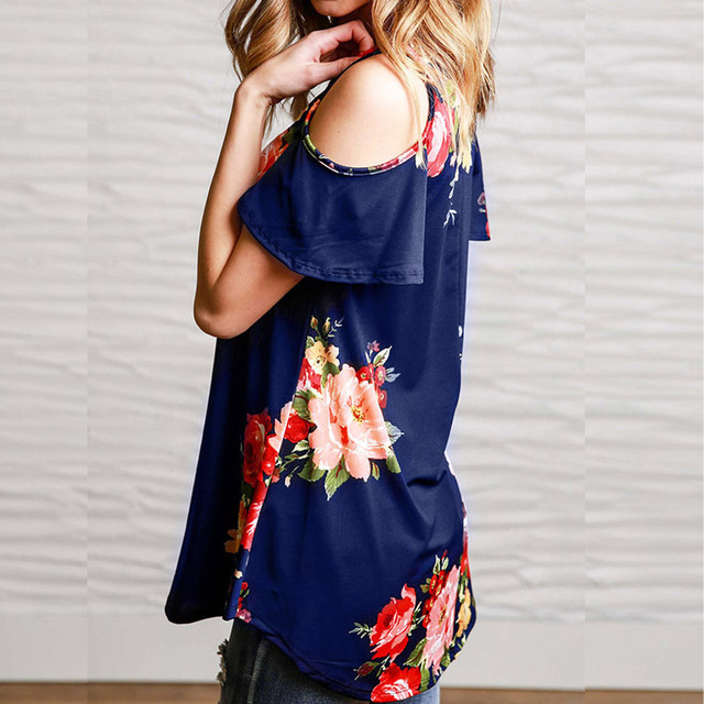 Floral Summer  Boho  Regular And Plus  Size Casual Top