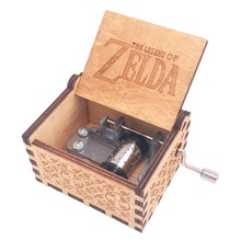 The Legend Zelda Music Box Hand Crank Musical Box Carved Wood Music Gift Chistmas Gift,Play Zelda:Song Storms from Ocarina Time все цены