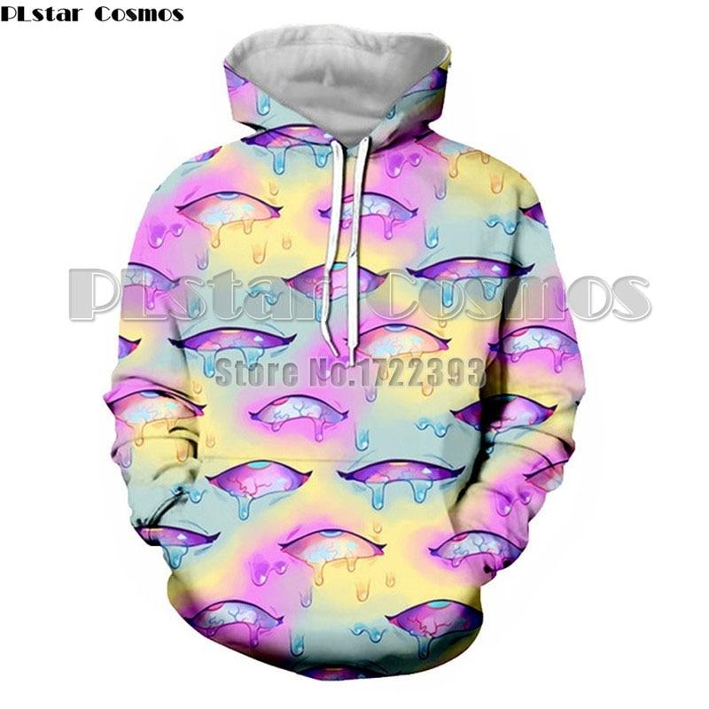 PLstar Cosmos Funny Ahegao Eyes 3d Printed Hoodies for Women Men Autumn Hip Hop Streetwear Unisex Hooded Sweatshirts Tracksuits