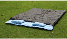 Double lovers spring and autumn winter camping Adult sleeping bag including two pillows AT6119