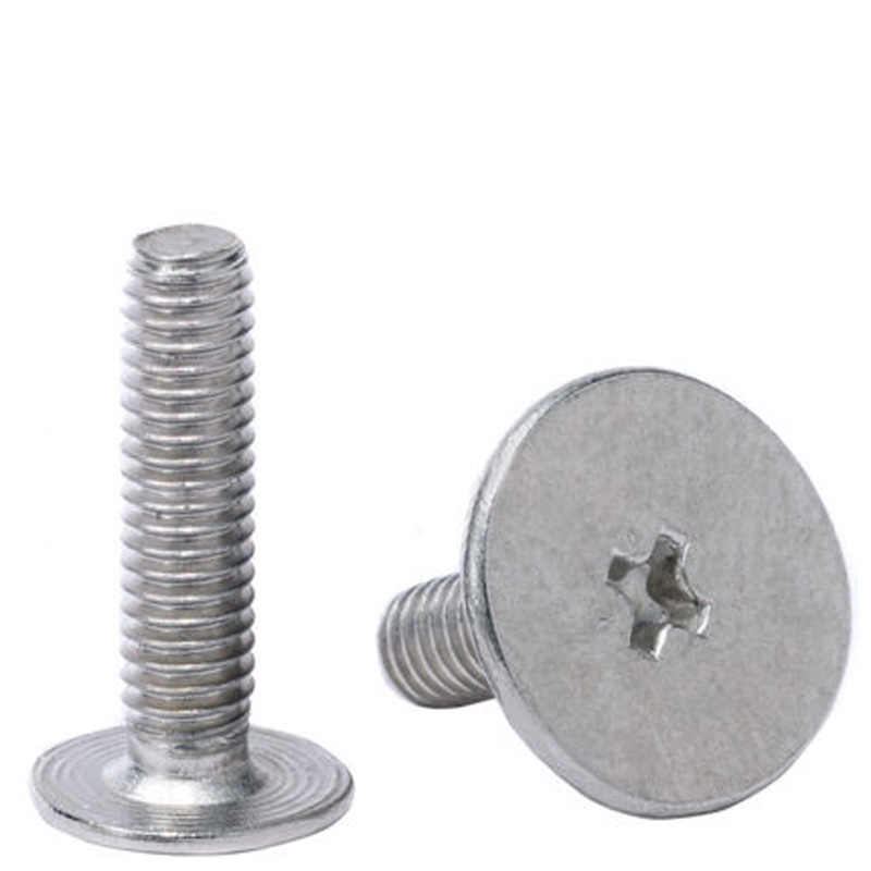 M1.2 To M4 Cross Countersunk Head Screw Nickel Plated 2-12mm Length 20-500pcs