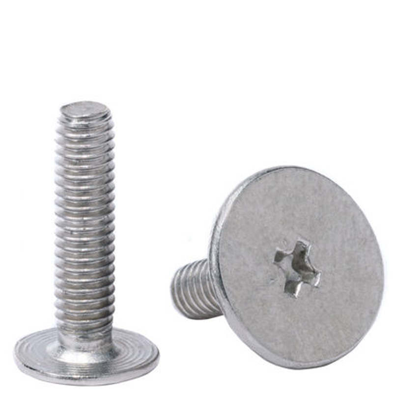 50pcs M2.5 Big thin Flat Countersunk head Nickel plate Screws Cross Phillips screw bolt Length 2.5mm 12mm|Screws|   - AliExpress