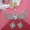 As jóias de noiva Tiara de Cristal Barroco vestido de noiva acessórios 0114