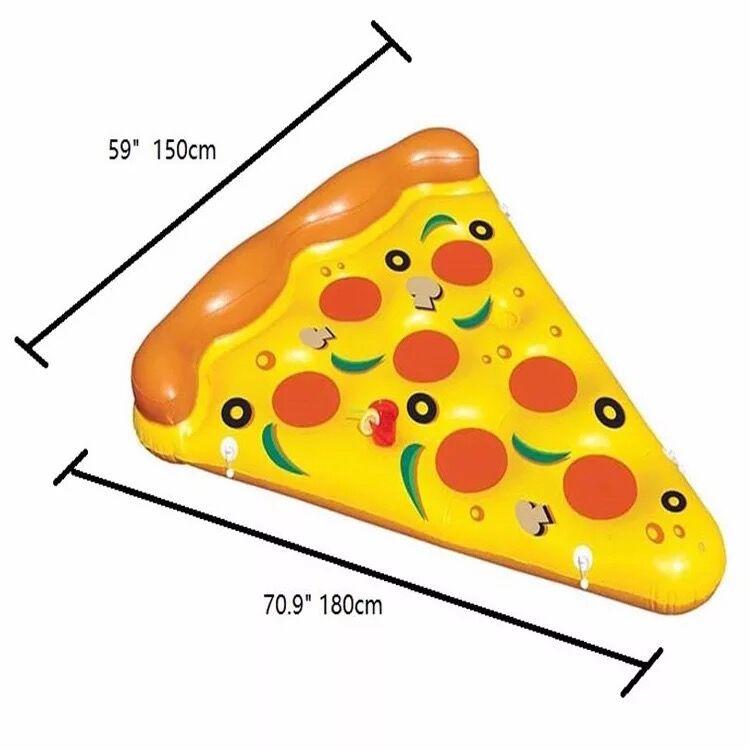 180*150 cm pizza rangée couleur lit flottant anneau bébé de natation piscine À Manger Poussette Infantile Portable Tapis de Jeu De jeu canapés Apprennent Tabouret - 2