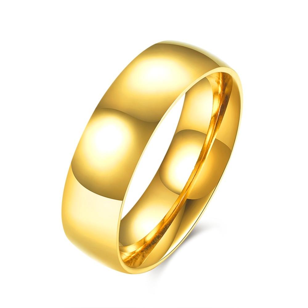 Aliexpress.com : Buy 316L stainless steel Men\'s Golden finger ring ...