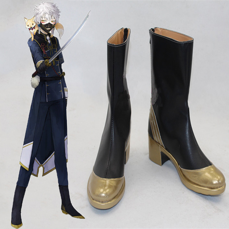 Game Touken Ranbu Online Cosplay Shoes Nakigitsune Cosplay Shoes Boots Halloween Party Cosplay Costumes Daily Leisure Shoes