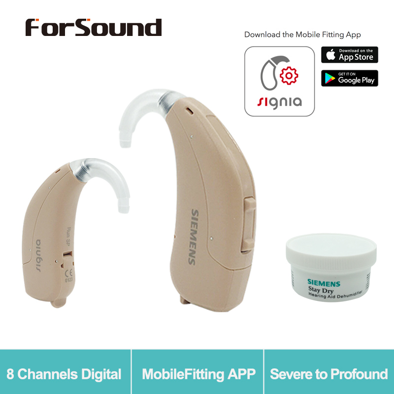 Siemens Hearing Aid RUN SP Signia Fit by Smartphone APP Upgrade Lotus Touching 12P 23P with