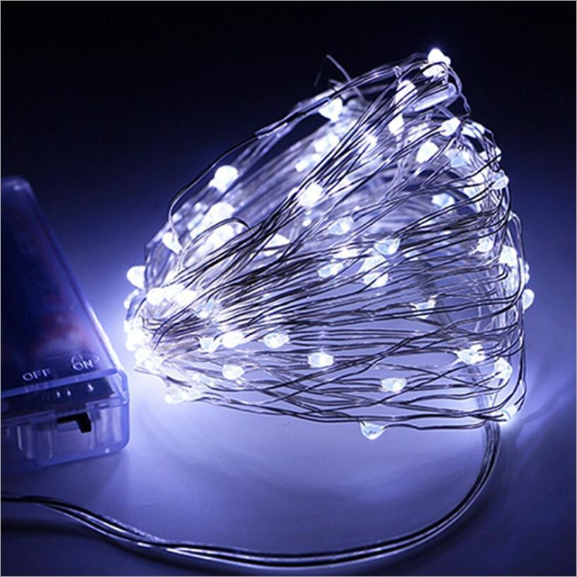 Us 1 31 Off Copper Wire Led String Lights Holiday 5m Outdoor Strip Lighting For Fairy Christmas Tree Wedding Party Decoration Lamp In