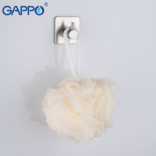 GAPPO Robe Hooks Stainless Steel Towel Coat Metal Wall Hooks Hat Hanger Wall Mounted Robe Hook душ gappo g2414