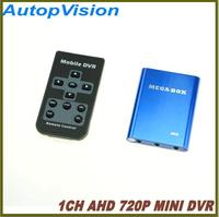 1 Channel Super Mini CCTV DVR Support SD Card Real time HD 720P Mini 1Ch AHD DVR Board with AHD mini camera free shipping