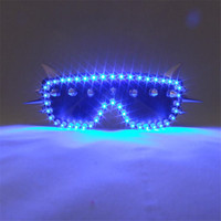 Hot Sale Blue Led Glasses Flashing Halloween Party Light Up Led Luminous Glasses Eyewear For Event Supplies DJ Club Stage Show